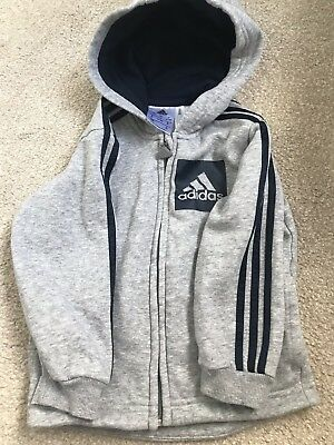 12-18 Month Boys Adidas Grey Hoodie Jacket