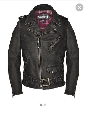 SCHOTT NYC 626VN Cowhide Leather Motorcycle Jacket Size X-Large Orig retail $795