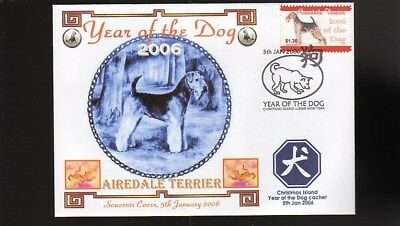 Year Of The Dog Stamp Illustrated Souvenir Cover, Airedale Terrier 4