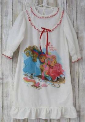Vintage 1986 Lady Lovely Locks Flannel Nightgown Size 4T Bates Jama Never Worn
