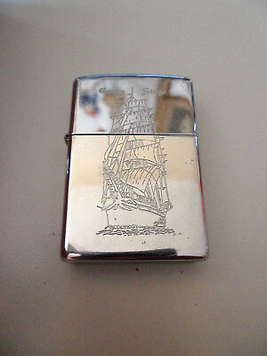 Zippo Sailing Ship Georg Stage Engraved Lighter Polished Chrome 1998 A Xiv Great