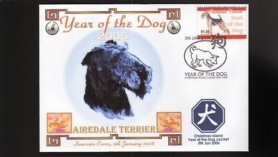 Year Of The Dog Stamp Illustrated Souvenir Cover, Airedale Terrier 2