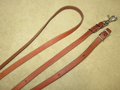 Supple HIGH QUALITY Brown Flat Leather Western Single Barrel Roping Rein Reins