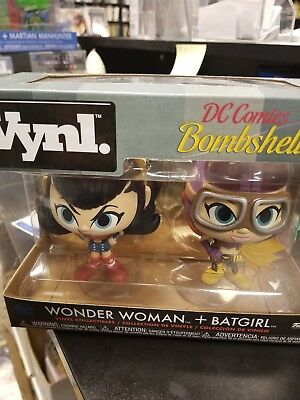 Funko DC Bombshells Vynl Wonder Woman Batgirl Figure Set NEW IN STOCK Toys
