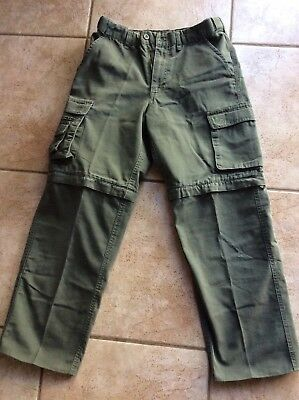 Boy Scouts Of America Uniform Pants Youth 14 Convertible Switchbacks Cargo Green