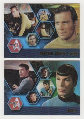4- Star Trek Promo Cards. 35th Ann., 2009- Original Series, Heroes And Villains
