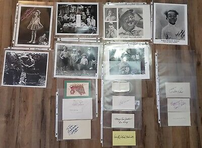 OUR GANG Lot of Autographed Photos Letters Cards Little Rascals Vintage Movie