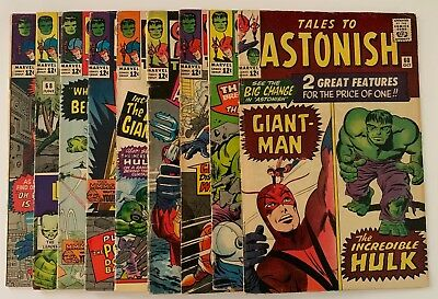 TALES TO ASTONISH Silver Age Marvel Lot 60 62 63 65 65 66 67 68 69 Hulk Avengers