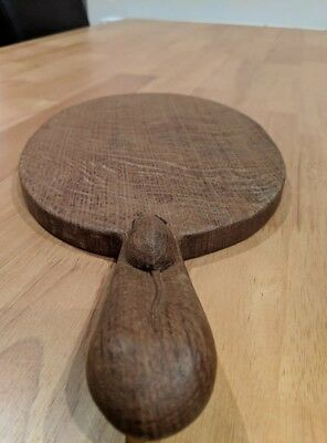 Robert Mouseman Thompson Oval Hand Carved Oak Cheese Board
