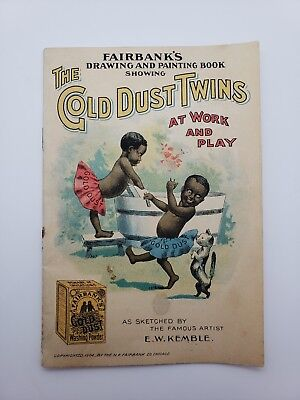 Gold Dust Twins Book 1902 Fairbanks Washing Powder Drawing And Painting Book