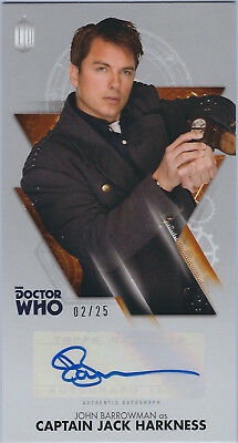 John Barrowman as Captain Jack Autograph - Doctor Who Widevision - 02/25 - Topps