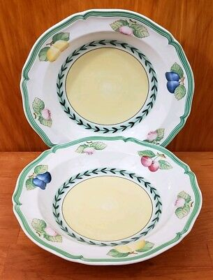 "2 Villeroy & Boch French Garden Fleurence 1748 Soup Salad BOWLS 8"" Germany"