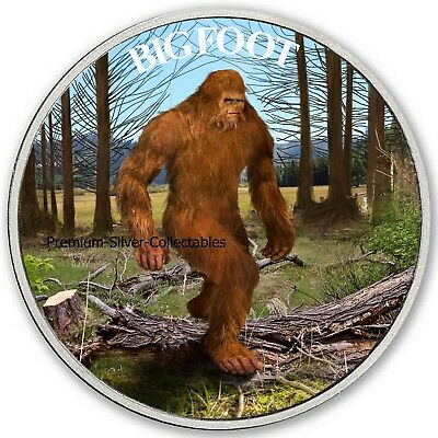 2019 Cryptozoology Series Bigfoot! - Pure Silver Colorized Series!!!