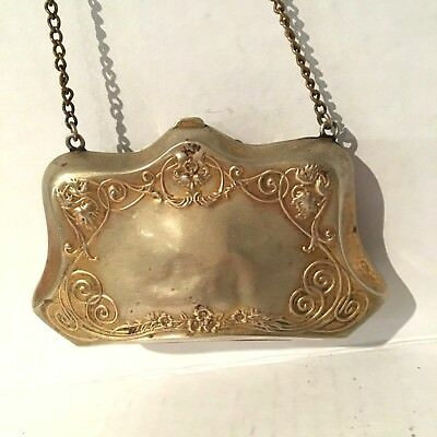 Small Antique German Silver Purse AS IS