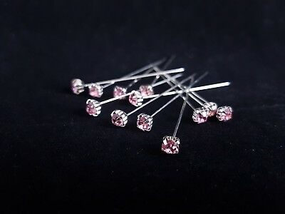 Diamante Florist Pins 4mm x 72pcs Light Pink Premium Quality