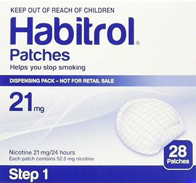 Habitrol Step 1, Transdermal Nicotine Patch 21mg,  1 box  28 patches box damage