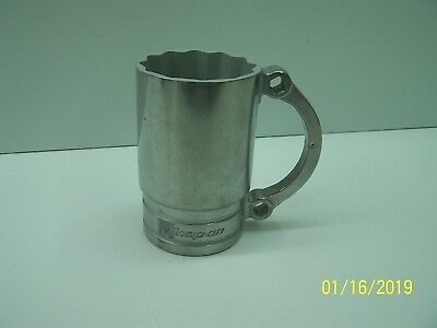 "Snap On Tools Flankard 5/8"" Socket 1/2 Moon Wrench Aluminum Coffee Beer Mug New"