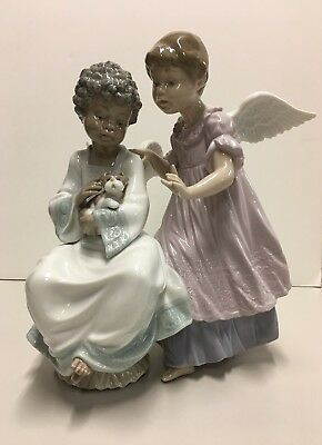 LLADRO Angelic Harmony #6085 Great Condition with Original Box Retired Angels