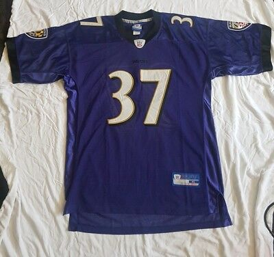 Authentic mens Reebok Deion Sanders Baltimore Ravens NFL jersey XL stitched