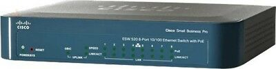 Cisco ESW-520-8P-K9 Pro 8-port PoE Ethernet Switch + Power Supply Adapter