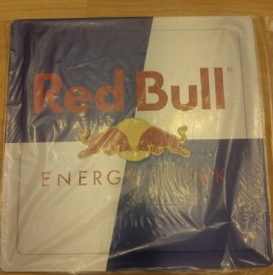 "New Red Bull Energy Drink Double Sided Metal Advertising Sign 10"" x 10"""