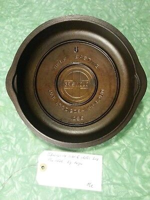 Griswold #1096 Size 6 Large Logo Cast Iron Skillet Lid Nice Restored Condition