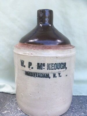 Cobalt Advertising Stonewear Crock Jug 1 Gallon Size Antique New York