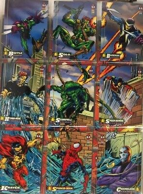 1994 Marvel Fleer The Amazing Spider Man 150 total cards Complete base set