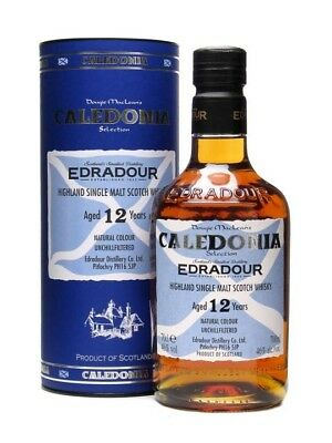 Edradour 12 Year Old Caledonia Selection Single Malt Scotch Whisky 700ml