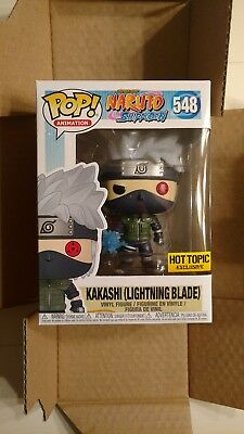 FUNKO POP! Naruto KAKASHI WITH LIGHTNING BLADE Hot Topic Exclusive in hand