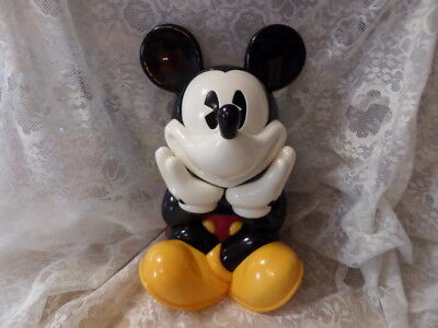 """1990s MICKEY MOUSE TALKING COOKIE JAR """"GOSH IS IT SNACK TIME AGAIN?""""  FREE SHIP"""