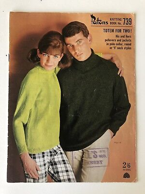 Patons Knitting Book Number 739 - Vintage Knitting Patterns - 1960s
