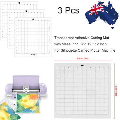 "3* Replacement Cutting Mat 12"" Measuring Grid Adhesive for Silhouette Cameo"