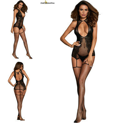 Hot Reizwäsche Fishnet Body Stocking Catsuit Netz Body Unterwäsche |H| 790072-2