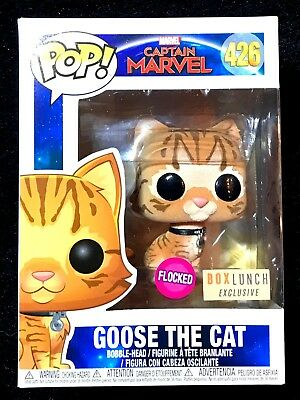 Funko Pop! Captain Marvel: Goose The Cat Flocked #426-BoxLunch Exclusive DBL Box