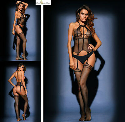 SEXY Reizwäsche Fishnet Body Stocking Catsuit Netz Body Unterwäsche |H| 79958-2