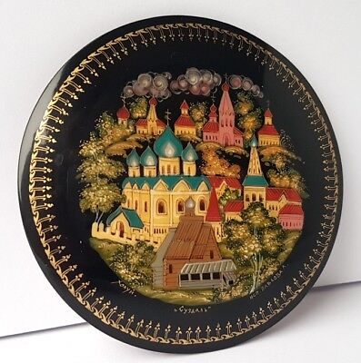 Lacquer Box Papier-Mâché Container Hand Painted Signed Павлова Холуй Palech