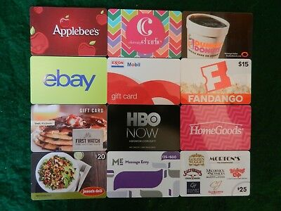 Lot Of Twenty (20) All Different Collectible Only *gift Cards*