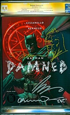 Batman Damned #1 Sketch Jim Lee Variant Signed Brian Azzarello Bermejo CGC 9.9