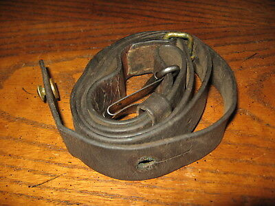 Swedish leather Mauser sling m1896 m96 m38 tre kronor stamped