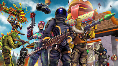 Fortnite Video Game Poster size 12x19 17x26 24x38  Excellent Quality Paper Print
