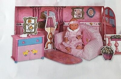 Zapf Creation Baby Born Mini World Lounge Room Set- Great Cond!