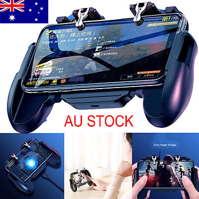 AU For PUBG Gamepad Grip Game Phone Controller with Cooling Fan for Android iOS