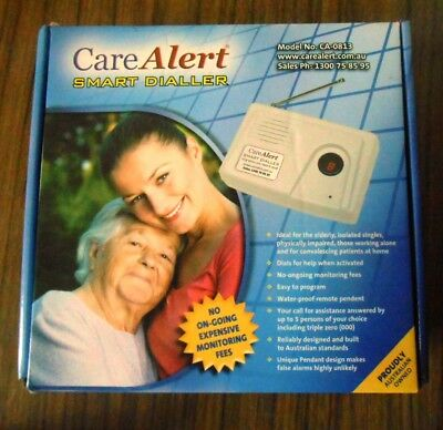 Care alert, complete. press pendent button and it phone upto 6 numbers.