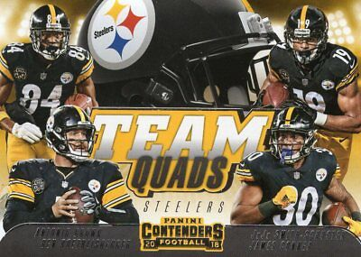 "Pittsburgh Steelers 2018 Contenders Football ""Team Quads"""