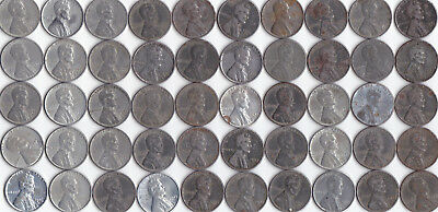 1943 D Lincoln Wheat Steel Cent Roll Circulated