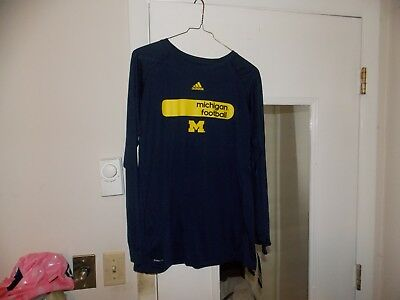 d2444496e8bb6c University of Michigan Football Adidas Climalite control Youth XL T shirt  NWTS
