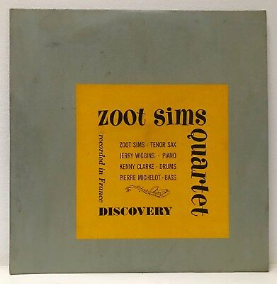 """ZOOT SIMS QUARTET Recorded in France DISCOVERY DL 3015 MONO DG 10"""" LP"""