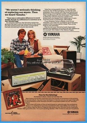 1979 Yamaha CR 640 Receiver YP B2 Turntable NS 244 Stereo Speakers Photo Ad