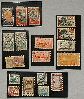 French Colonial Stamps 1930s-1940s Unused Africa, Asia +, Lot of 32 No Res.!